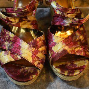 EUC Carlos by Carlos Santana Malibou Wedge Sandals